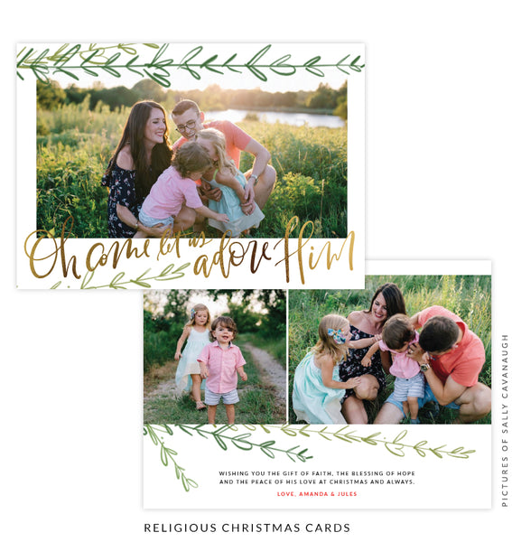 Christmas 5x7 Photo Card | Under the Tree e1556