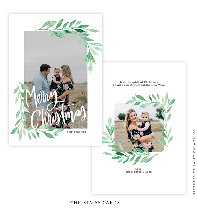 Christmas 5x7 Photo Card | Green gardens e1585