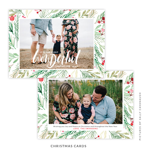 Christmas 5x7 Photo Card | Wonderful Winter e1586