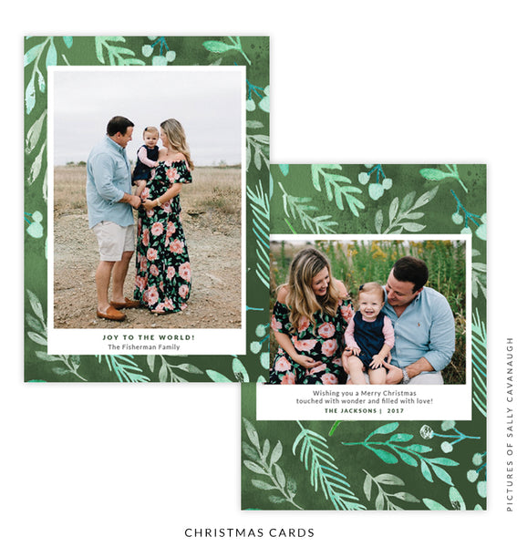 Christmas 5x7 Photo Card | Green Tree e1588