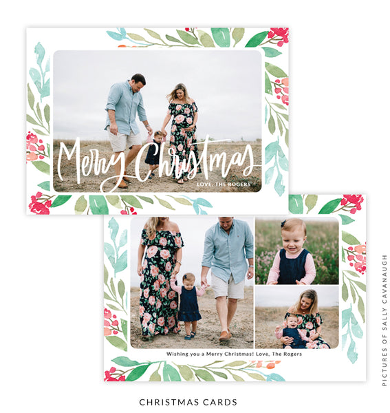 Christmas 5x7 Photo Card | Christmas Bouquet e1590