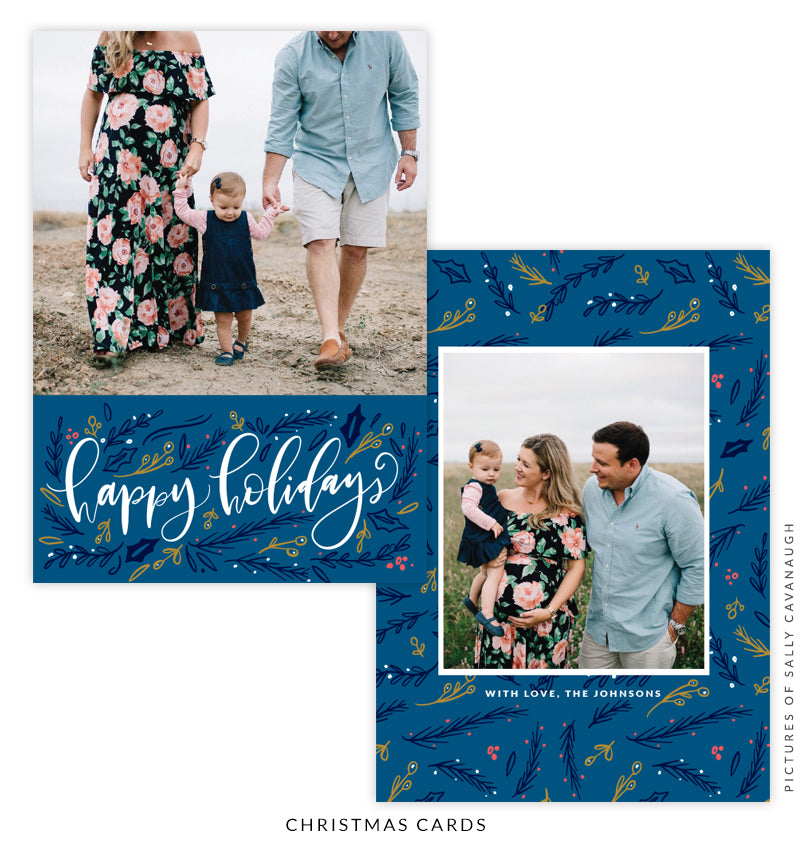 Christmas 5x7 Photo Card | Blue Holidays e1594