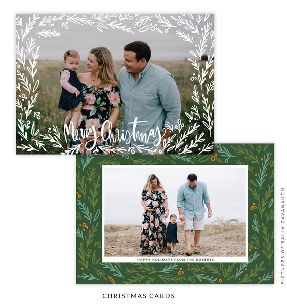 Christmas 5x7 Photo Card | Branches of Joy e1596
