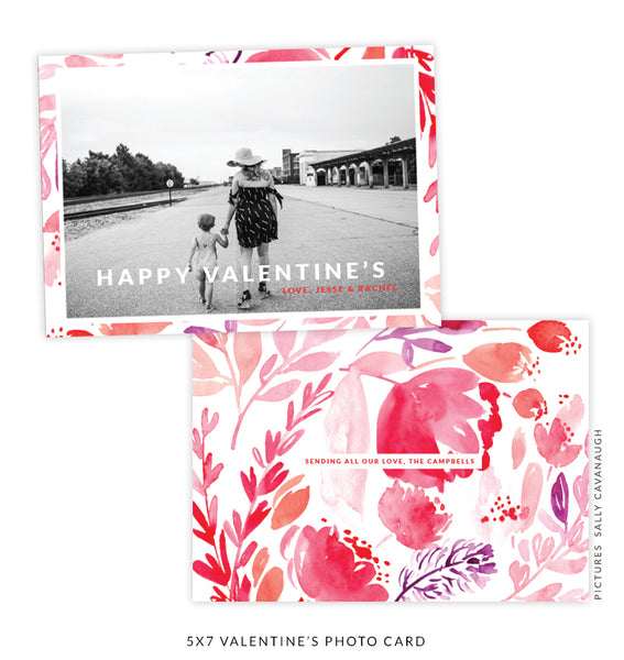5x7 Valentine's Photo Card | Love Bouquet e1617