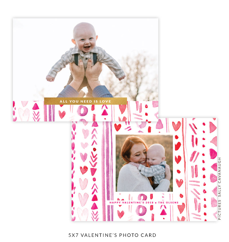 5x7 Valentine's Photo Card | Real Love e1620