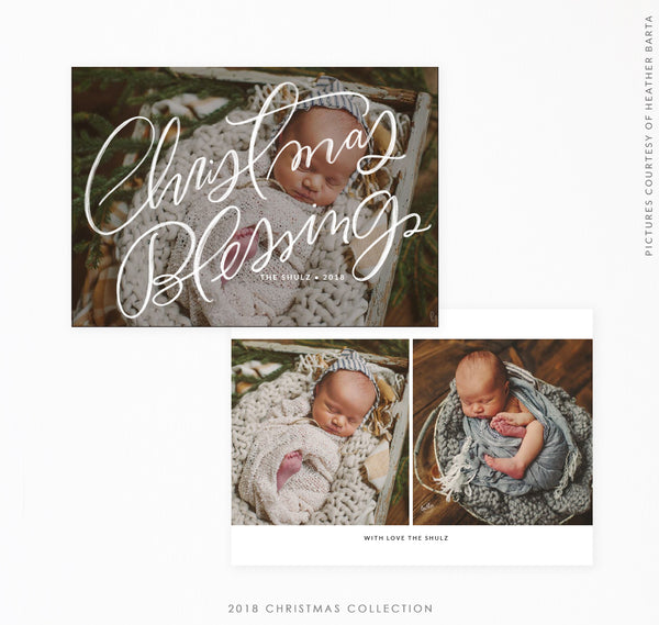2018 Christmas 5x7 Photo Card | Tiny Blessings