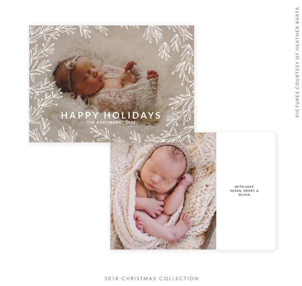 2018 Christmas 5x7 Photo Card | With Love