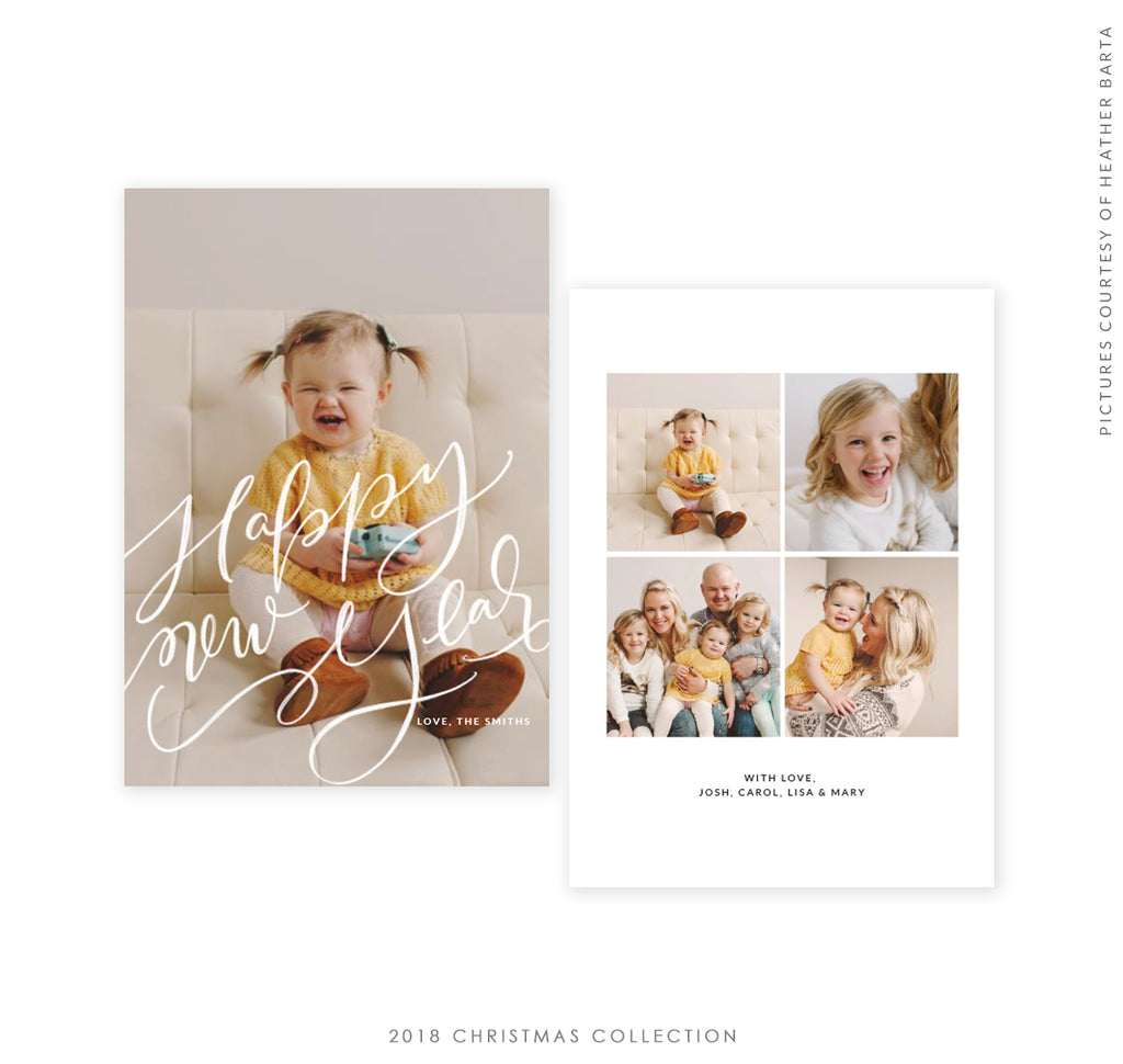 2018 Christmas 5x7 Photo Card | New Year Blossom