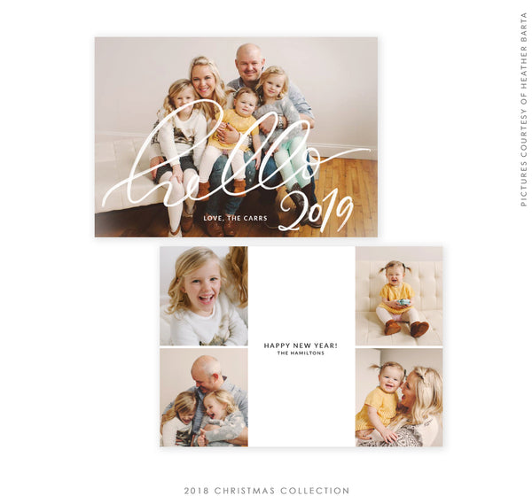 2018 Christmas 5x7 Photo Card | Hello New Year