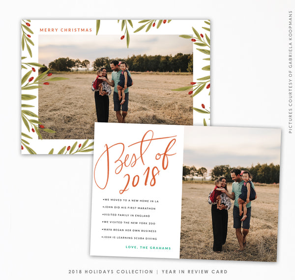 Year in review card Holiday Collection | Best of You