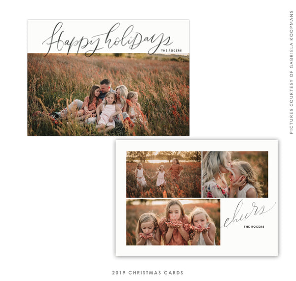 2019 Christmas 5X7 Photo Card | Holiday Cheers e1744