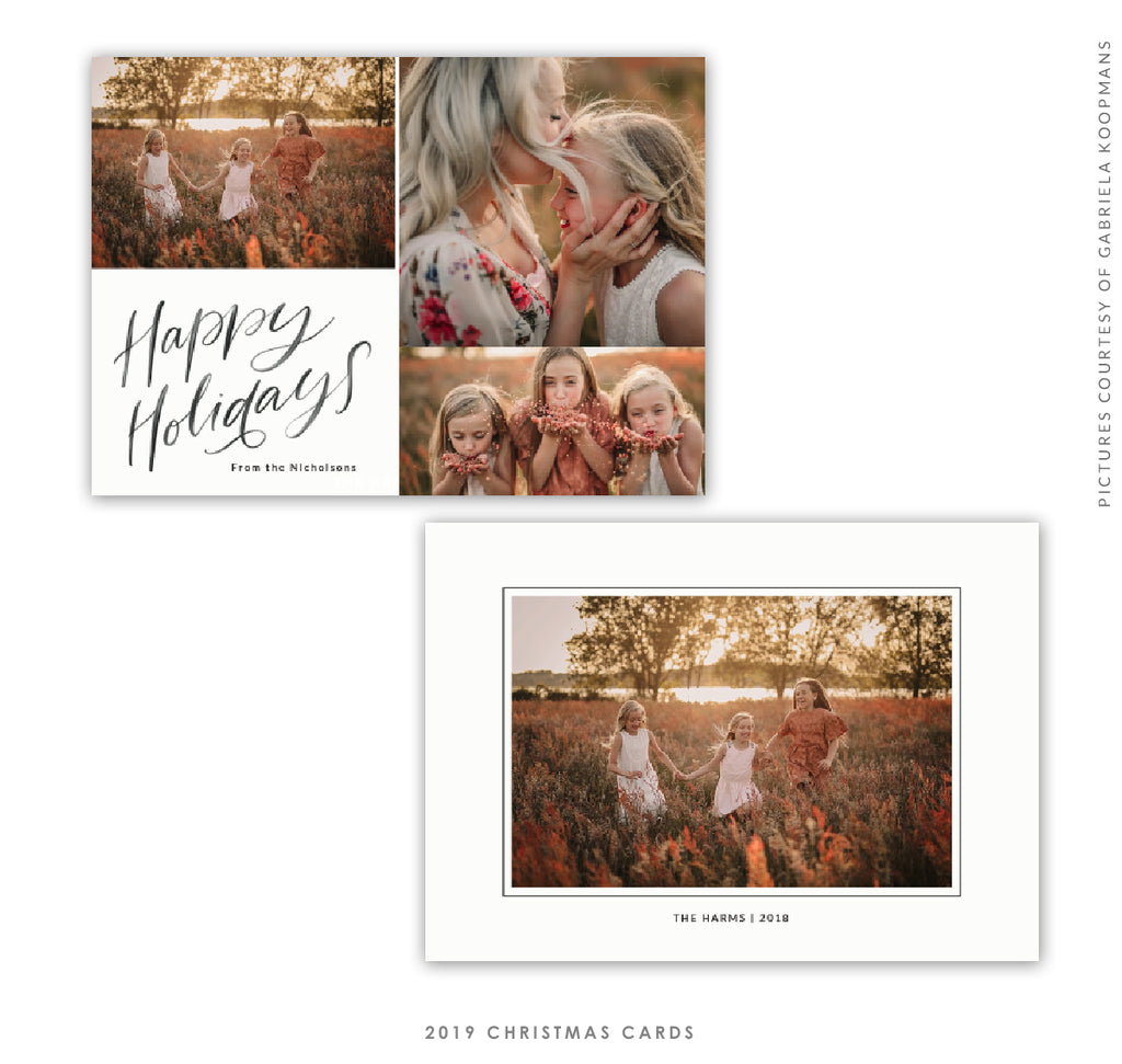 2019 Christmas 5X7 Photo Card | Pure Happiness e1755