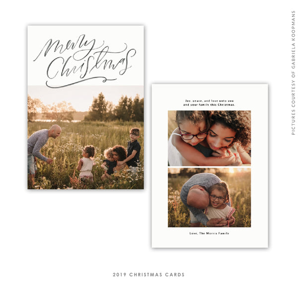 2019 Christmas 5X7 Photo Card | Merry Letters e1757