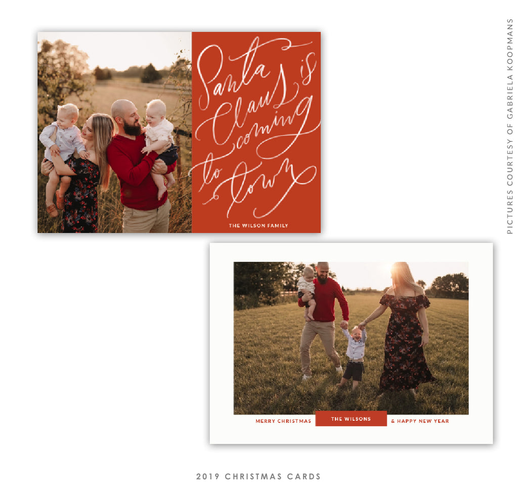 2019 Christmas 5X7 Photo Card | Santa is Coming e1759