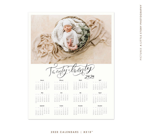 8x10 2020 Calendar Template | Fresh Year e1768