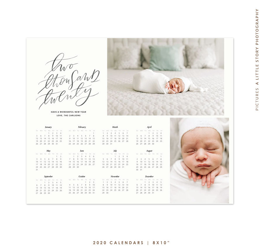 8x10 2020 Calendar Template | Good Vibes e1769