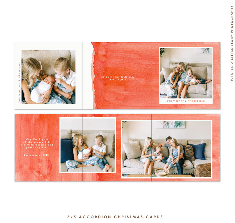 2019 Christmas 5x7 Photo Card | Warm Hugs e1793