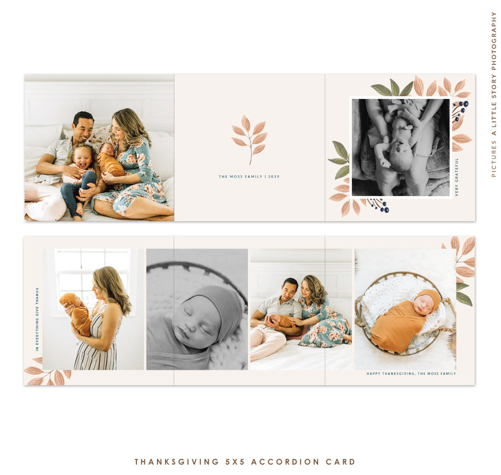 Thanksgiving accordion card 5x5 | Sweet Autumn e1811