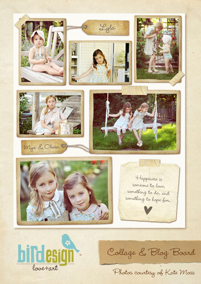 16x20 collage & blog board | Vintage memories e252