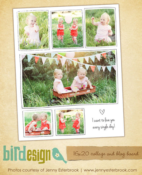 16x20 collage & blog board | Girls party e465