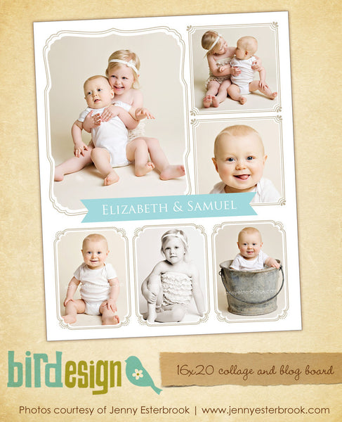 16x20 collage & blog board | Sweet siblings e469