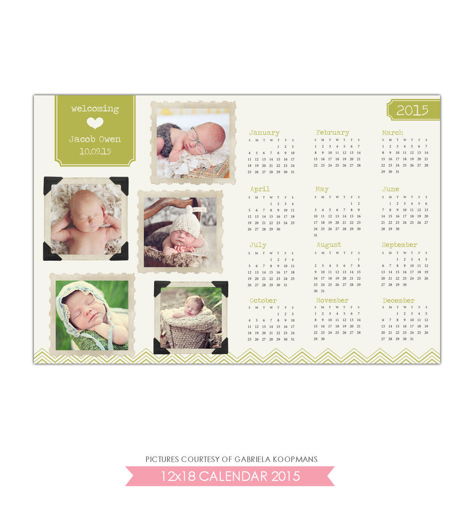 12x18 2015 calendar | New welcome - e516