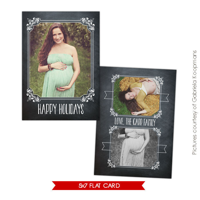Holiday Photocard Template | Belly Holidays e559