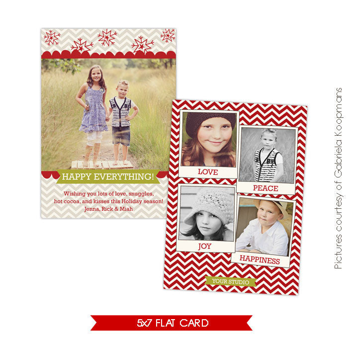 Holiday Photocard Template | Happy friendship e560