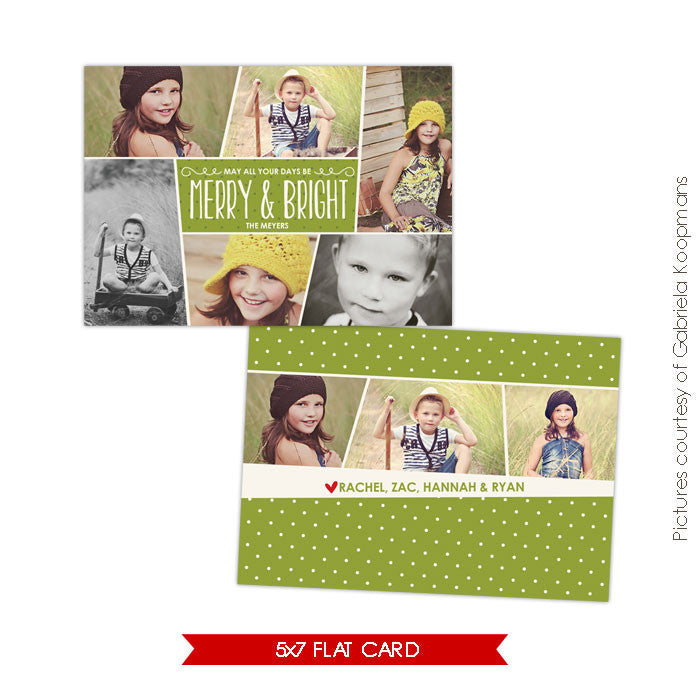 Holiday Photocard Template | Funky pics e562