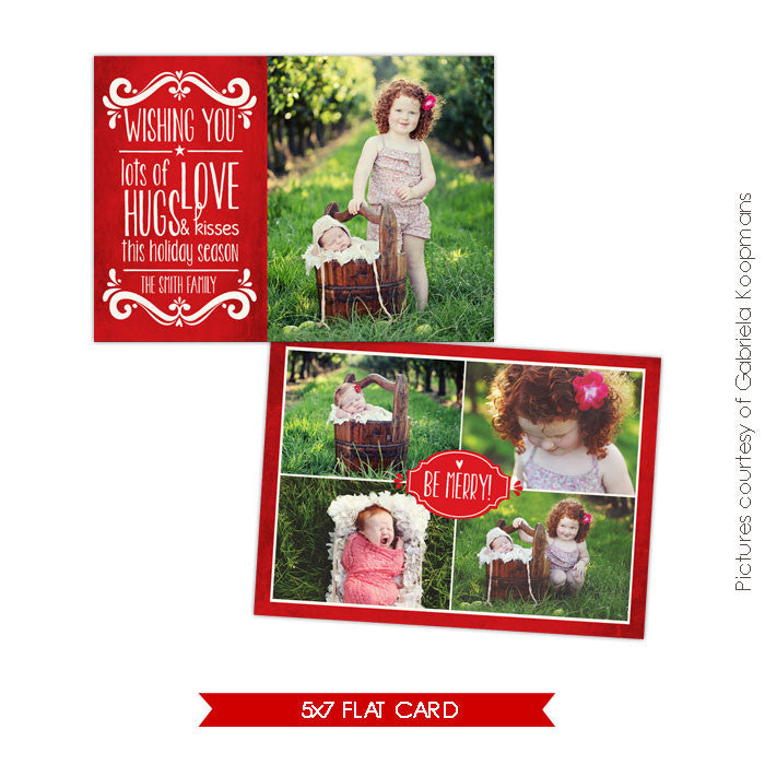 Holiday Photocard Template | Holiday Kisses e563