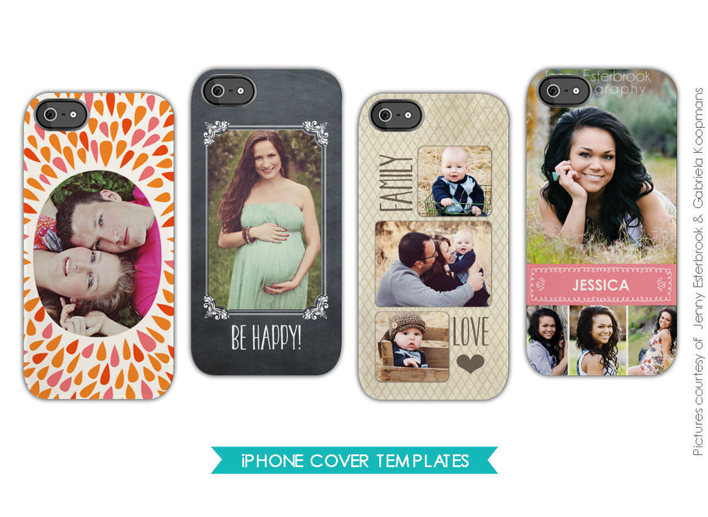 Iphone cover templates | Be happy e565