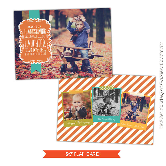 Thanksgiving Card Template | Fall wishes e579