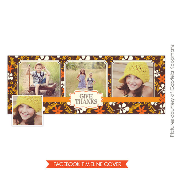 Facebook timeline cover | Fall flowers e584