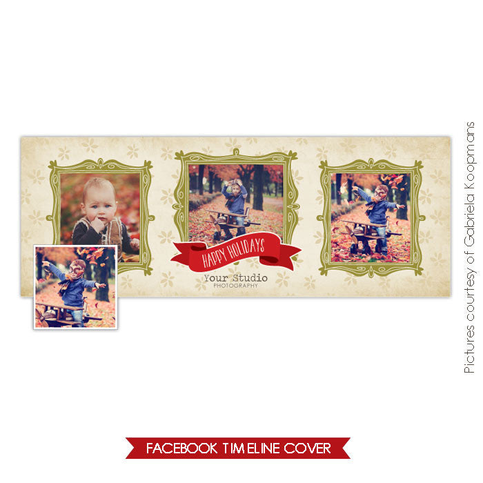 Facebook timeline cover | Holiday frames e593