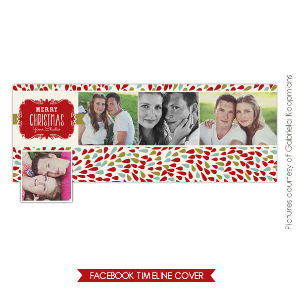 Facebook timeline cover | Christmas Bloom e596