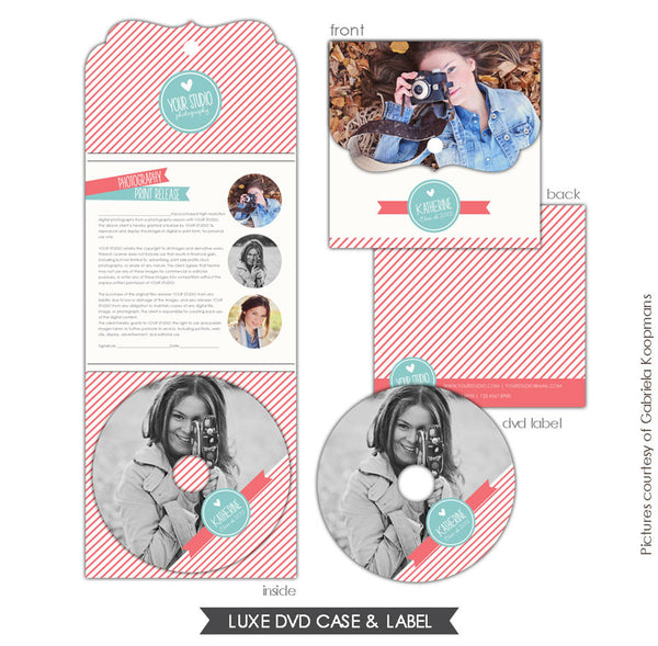 Luxe DVD case and DVD label | Pink day e602