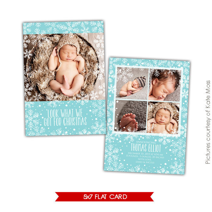 Holiday Photocard Template | Christmas gift e605