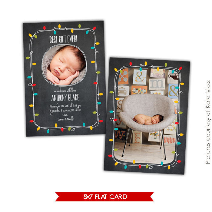 Holiday Photocard Template | Best gift ever e606