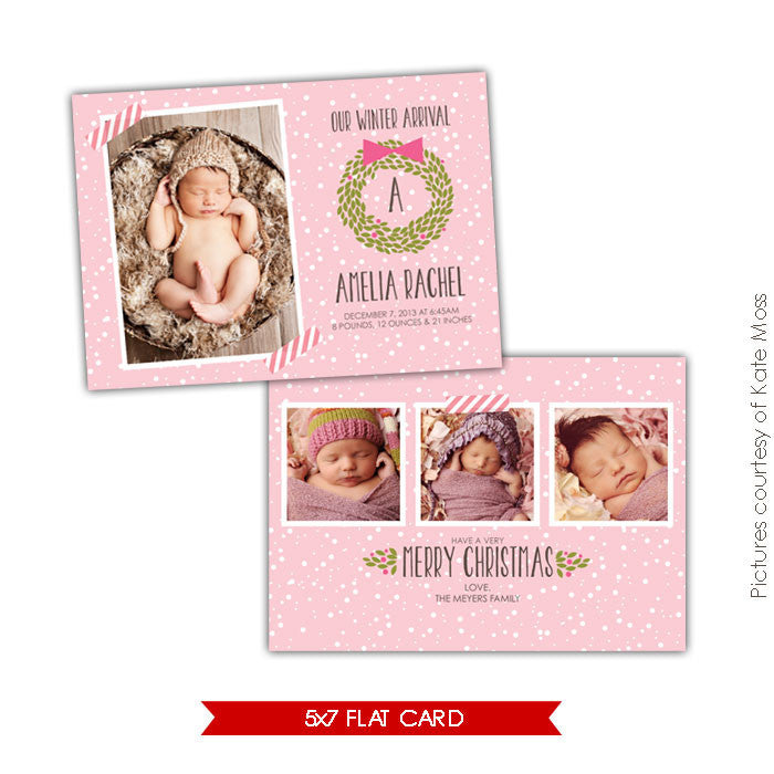 Holiday Photocard Template | Winter arrival e607