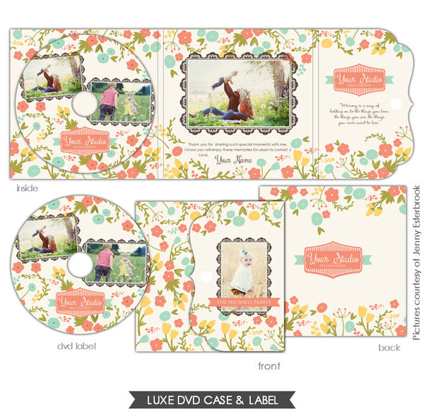 Luxe DVD case and DVD label | French garden e618