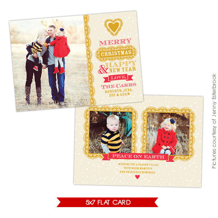 Holiday Photocard Template | Chic style e626