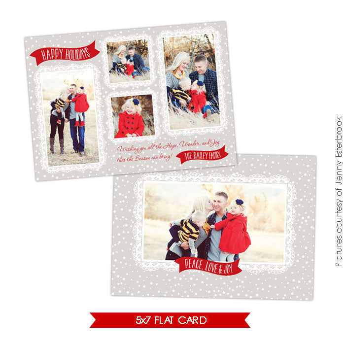 Holiday Photocard Template | Snowy day e625