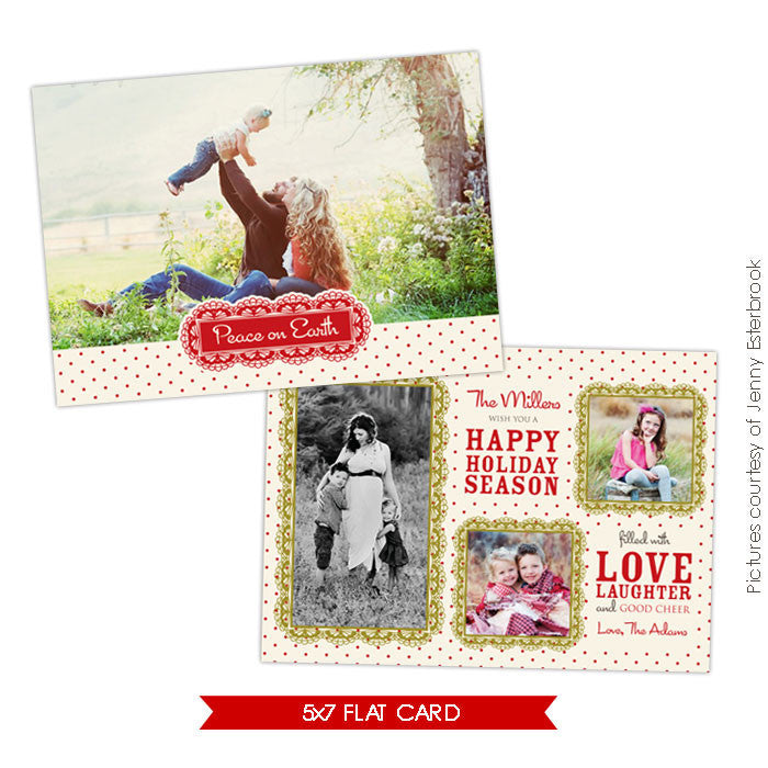 Holiday Photocard Template | Love together e627