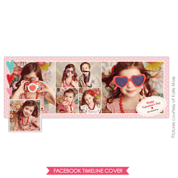 Facebook timeline cover | Three hearts e648