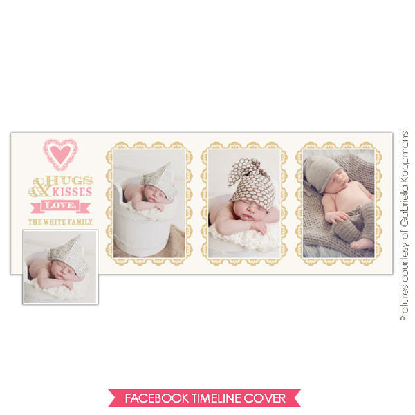 Facebook timeline cover | Baby kisses e657