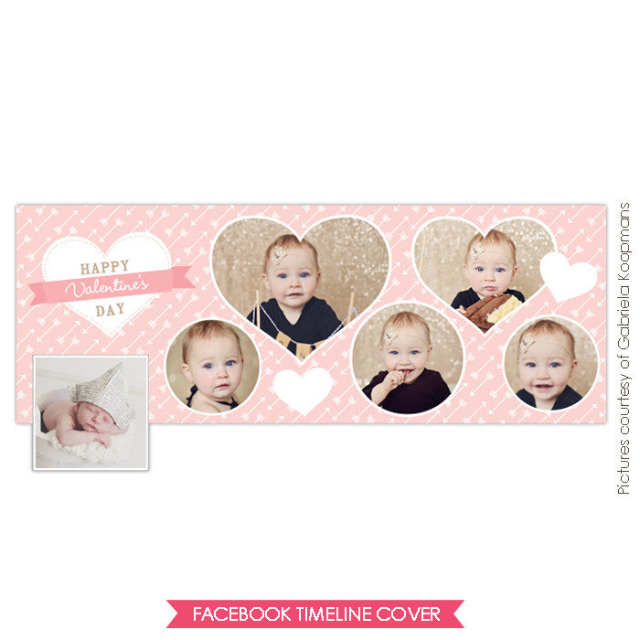 Facebook timeline cover | Pink sweetheart e656