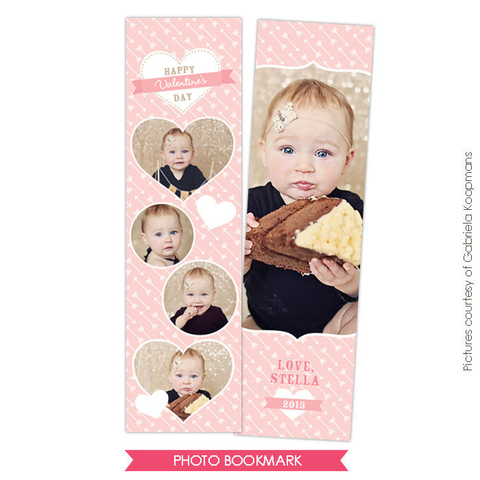 Valentine Bookmark template | Candy Love e670