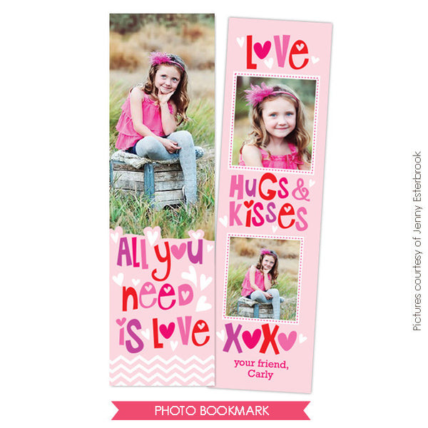 Valentine Bookmark template | Crazy friends e673