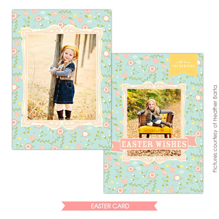 Easter photo card | Easter garden e727