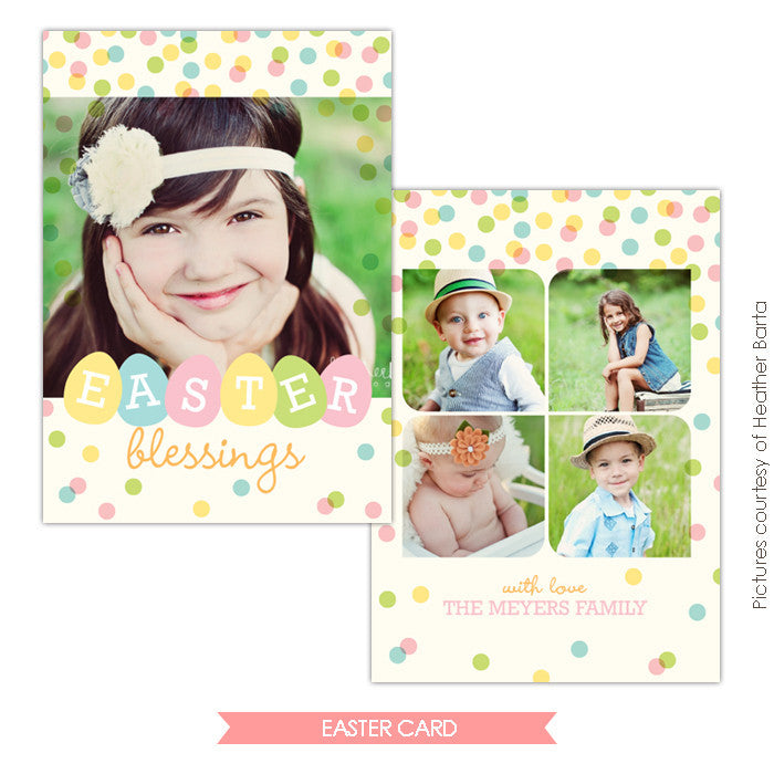 Easter photo card | Easter party e730